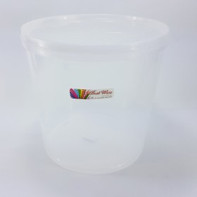 WHITE CONTAINER 白塑料罐